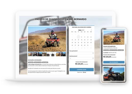 Sistema de vendas e reservas online para atrativos turísticos, passeios e receptivos